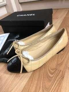 Chanel ballerina shoes beige size 38