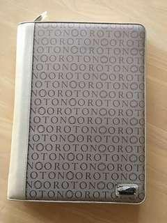 Brand new Oroton A4 stencil notebook portfolio