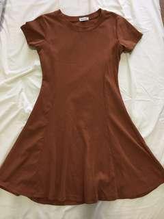 Brown Skater Girl Dress