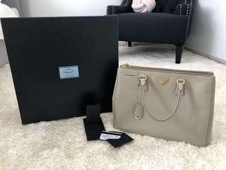Authentic Prada Double Zip Saffiano Lux bag