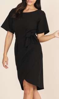 Black Office Knee Length Dress