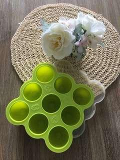 Baby silicone food storage tray