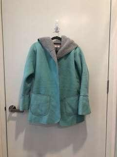 BNWT Supergurl Turquoise Autumn Spring Jacket Coat with Hoodie