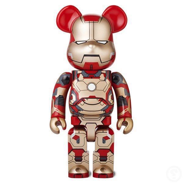 e8679f76 1000% + 400% + 100% Medicom Bearbrick Ironman Mark 42 Original Marvel Tony  Starks Avengers Hot Toys, Toys & Games, Bricks & Figurines on Carousell