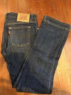 Levi's dark denim straight cut jeans series 599