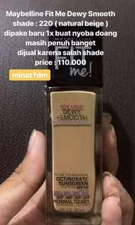 Maybelline Fit Me Foundation Dewy Smooth+