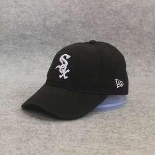 Topi Baseball New Era White Sox Black Second Original Murah