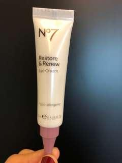 No 7 restore & renew eye cream 15ml