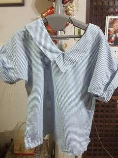 Striped top fits s to m