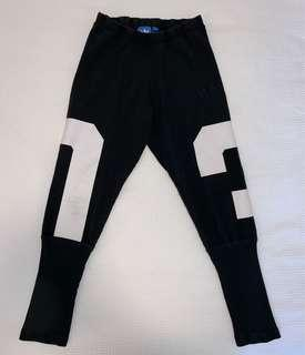 ADIDAS Black and White Tights Size 8