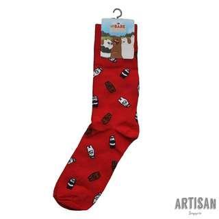 Iconic Socks - We Bare Bears (Red)