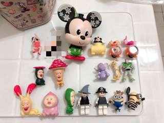 🚚 迪士尼、小小兵、樂高 扭蛋公仔