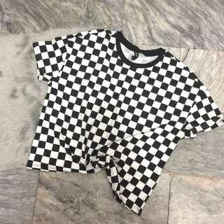BNWOT H&M Checkered Crop Top