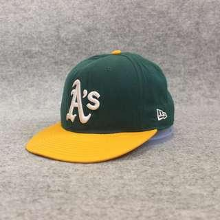 Topi Baseball New Era Oakland Green Yellow Second Original Murah