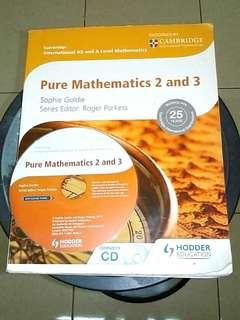 Pure Mathematics 2 & 3 with CD Cambridge International AS & A Level Sophie Goldie ORIGINAL BOOK