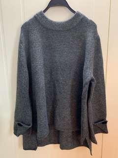 Zara Grey Knit Sweater Jumper (Size M) 灰色冷衫 (中碼)