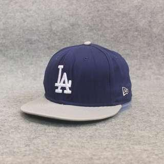 Topi Snapback New Era LA Navy Grey Second Original Murah