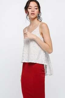 🚚 Love Bonito Zosia Lace Asymmetrical Top