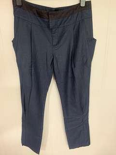 "Initial Navy Trousers (Size 4 waist 34"") 深藍色長褲 34吋腰"