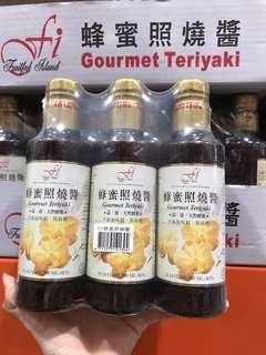 🚚 Costco好市多 F.I. TERIYAKI 日式蜂蜜照燒醬 300ml x3入