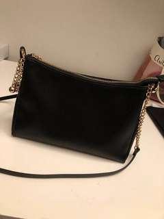 h&m black side bag purse
