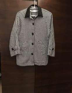包郵 🌹 $399 ➡️ $89 日本千島格 黑白 外套