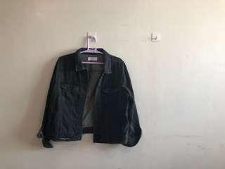 Brand New Mango Black Denim Jacket