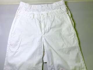 🚚 Uniqlo白色短褲