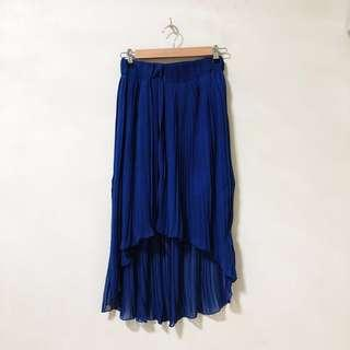 Blue High-Low Skirt