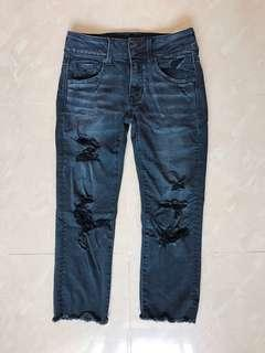 AEO American Eagle 牛仔褲 super stretch cropped jeans