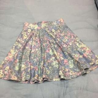Kitschen pretty pastel camo flowy skirt