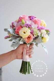 Bridal bouquet fresh flowers