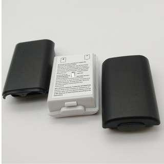 (Free postage) Pack of 3: Battery Pack Cover Shell Shield Case Kit for Xbox 360 (2 Black 1 White)