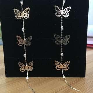 Cute Butterfly long earrings