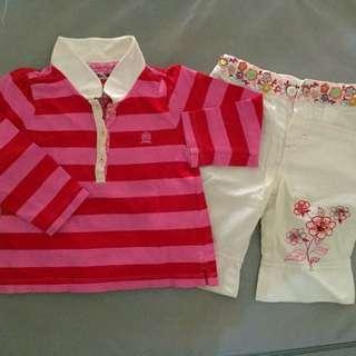 Poney & Tommy Hilfiger Shitr & Pants Set