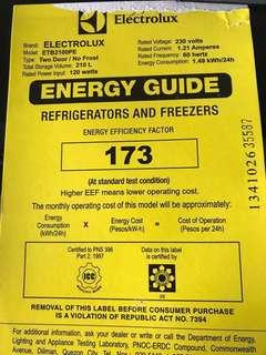 MOVING OUT SALE: Electrolux ETB2100PE No-Frost Refrigerator