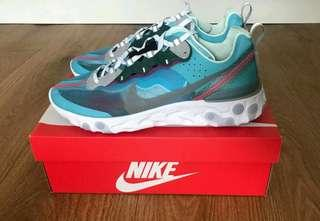 Price Firm/No Trade : us10 Nike React Element 87 Blue tint