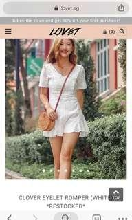 Lovet crochet white romper