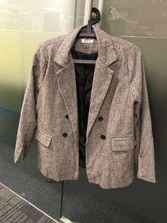 格子 西裝褸 外套 checked blazer
