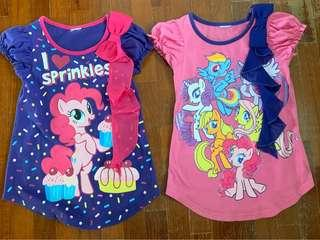Preloved glittered mlp tops