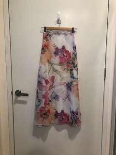 BN Floral Maxi Skirt with Side Slit
