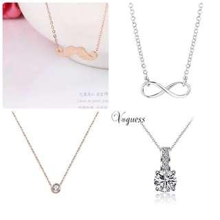 Cute necklaces silver rose gold gift
