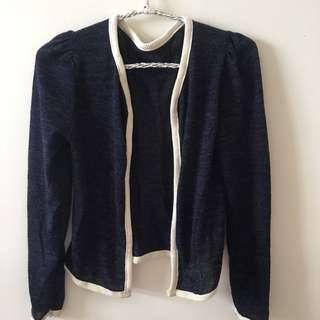 🚚 韓國薄型短版針織外套