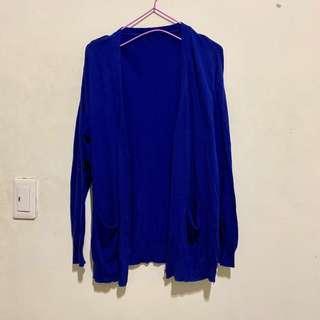 🚚 針織排釦寶藍外套