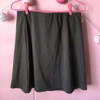 🚚 Cotton On Olive Green Skater Skirt