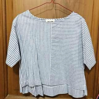 This is April Blue Striped Top