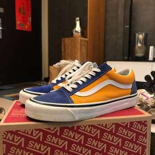 🚚 Vans old skool 36 dx Anaheim factory 藍橘
