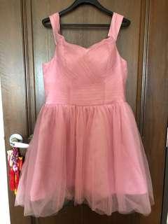 🚚 Bridal Bridesmaid Wedding Pink Dress XL