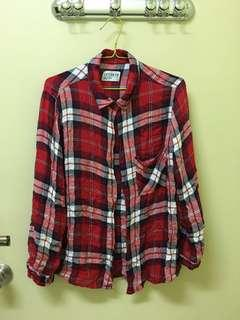 Checkered soft material shirt