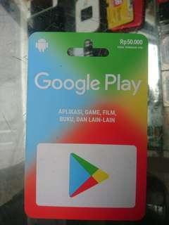 Voucher Google play 50rb